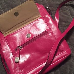 Pink Leather Crossbody
